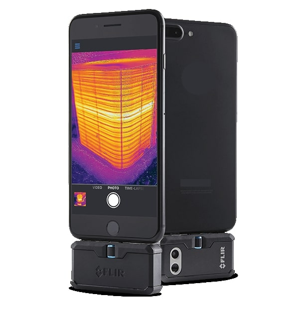 Acquisition system smartphone thermal camera